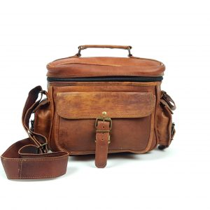 "10"" Leather Camera Bag"