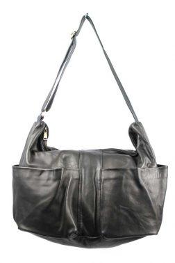 Cornelius Leather Shoulder Bag - Sling (0756) in Black