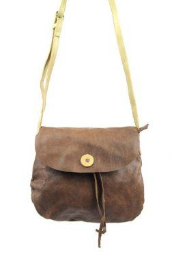 Pocket (2222) Soft Cornelius shoulder bag in brown leather