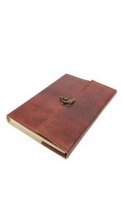 LOCK LEATHER BOUND NOTEBOOK