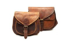 Goat leather saddle bags