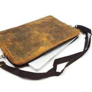 """15"""" Buffalo Leather Laptop Case"""