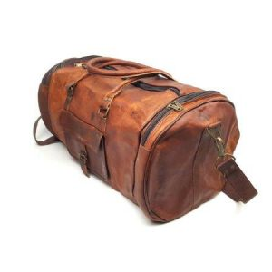 50 inch goat leather duffel bag