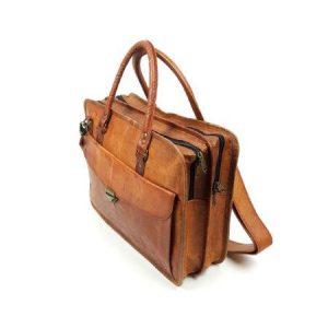 Goat leather work bag