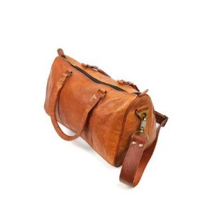 Goat leather duffel bag