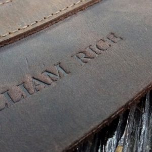 Leather embossing services