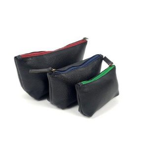 Leather make-up pouches