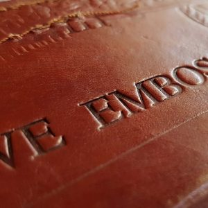 We Emboss - Leather embossing service