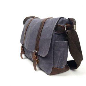 grey canvas satchel