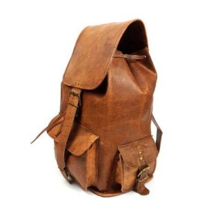 """16"""" Classic Goat Leather Backpack"""