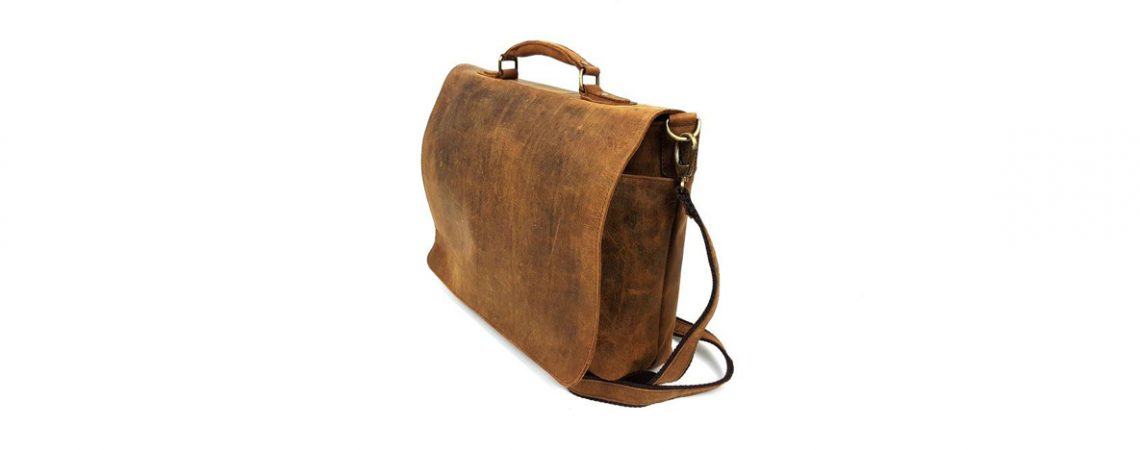 HERCULES – 16″ Postal Leather Laptop Satchel Messenger Bag (16-LS-POST-WIDE)