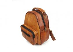 Small goat leather backpack
