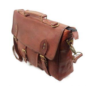 "16"" Leather Satchel Bag"