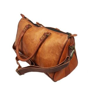 Duffel travel leather bag