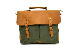 14-CNVS-1807-BAG-GRN green canvas bag